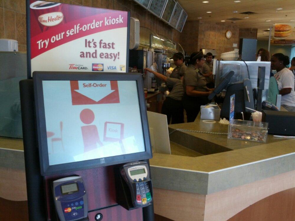 Tim Horton's self-order kiosk