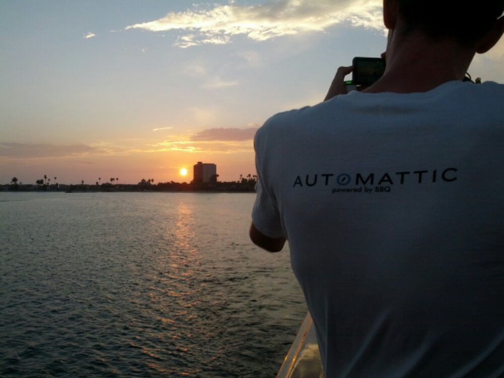 Automattic on a boat