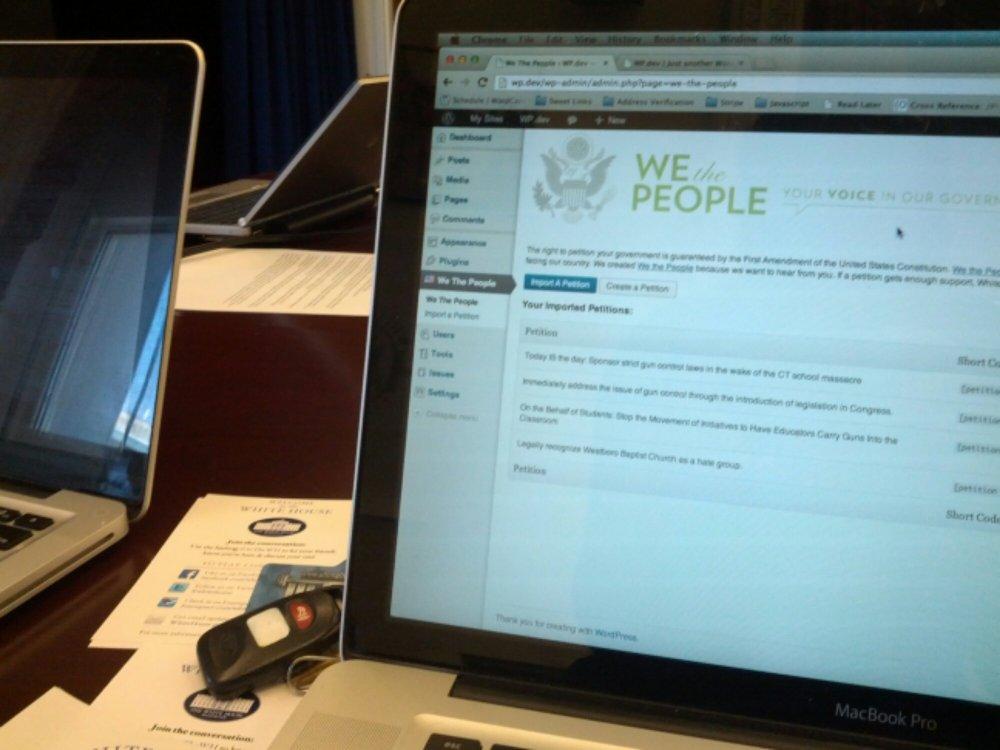 We The People Hackathon (#WHhackathon) (1/3)